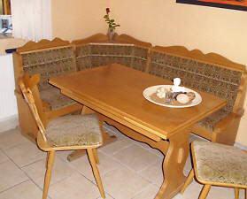 Eckbank rustikal eiche for Tisch mit marmorplatte gebraucht